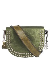 The Cooper khaki leather crossbody bag