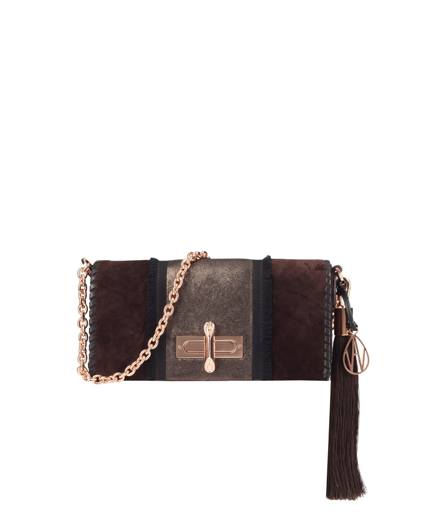 The Baguette Costello ebony shoulder bag Sale - Amanda Wakeley