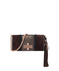 The Baguette Costello ebony shoulder bag