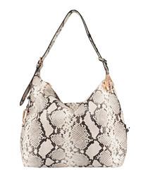 The Costner white leather shoulder bag