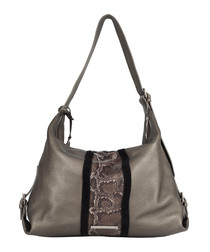The Stripe Costner taupe shoulder bag