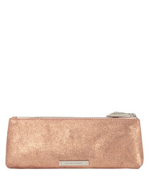 The Regular Mercury blush leather clutch