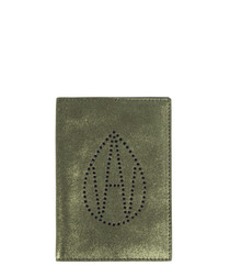 The Curtis khaki leather passport cover