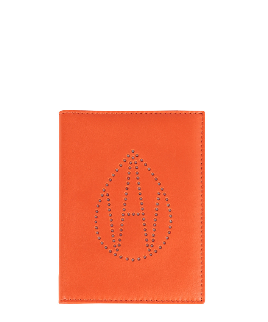The Curtis orange leather passport cover Sale - Amanda Wakeley
