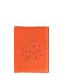 The Curtis orange leather passport cover