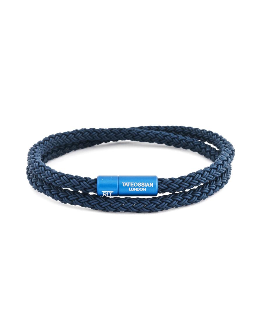 Blue braided double-wrap bracelet Sale - Tateossian London