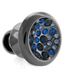 Black & blue constellation lapel pin