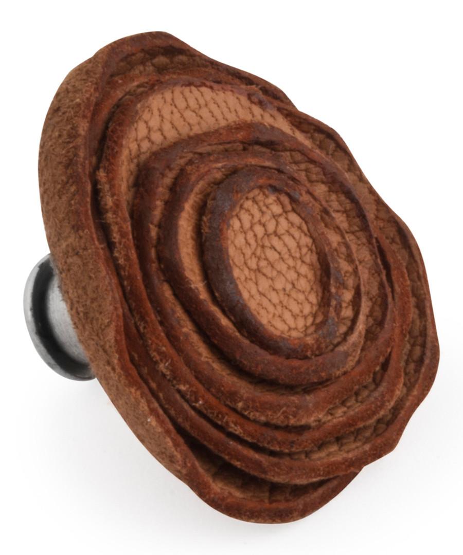 Brown leather rose pin Sale - Tateossian London