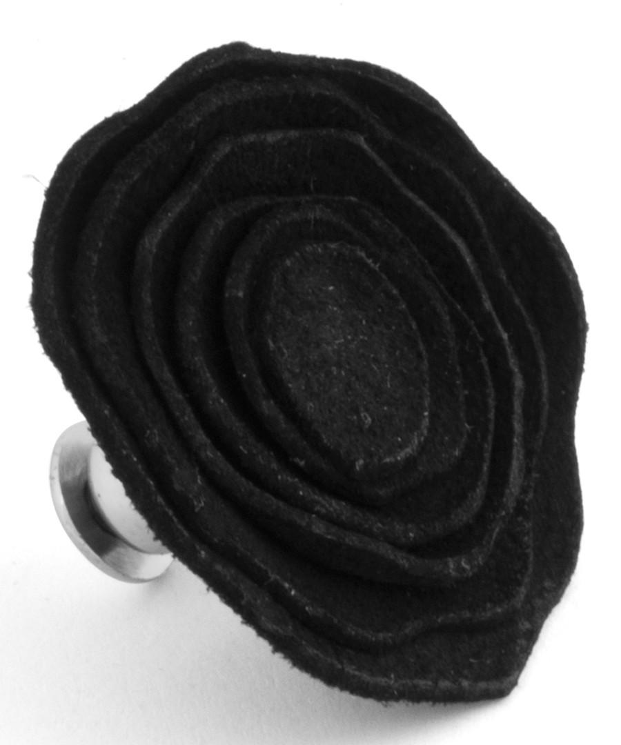 Black leather rose pin Sale - Tateossian London