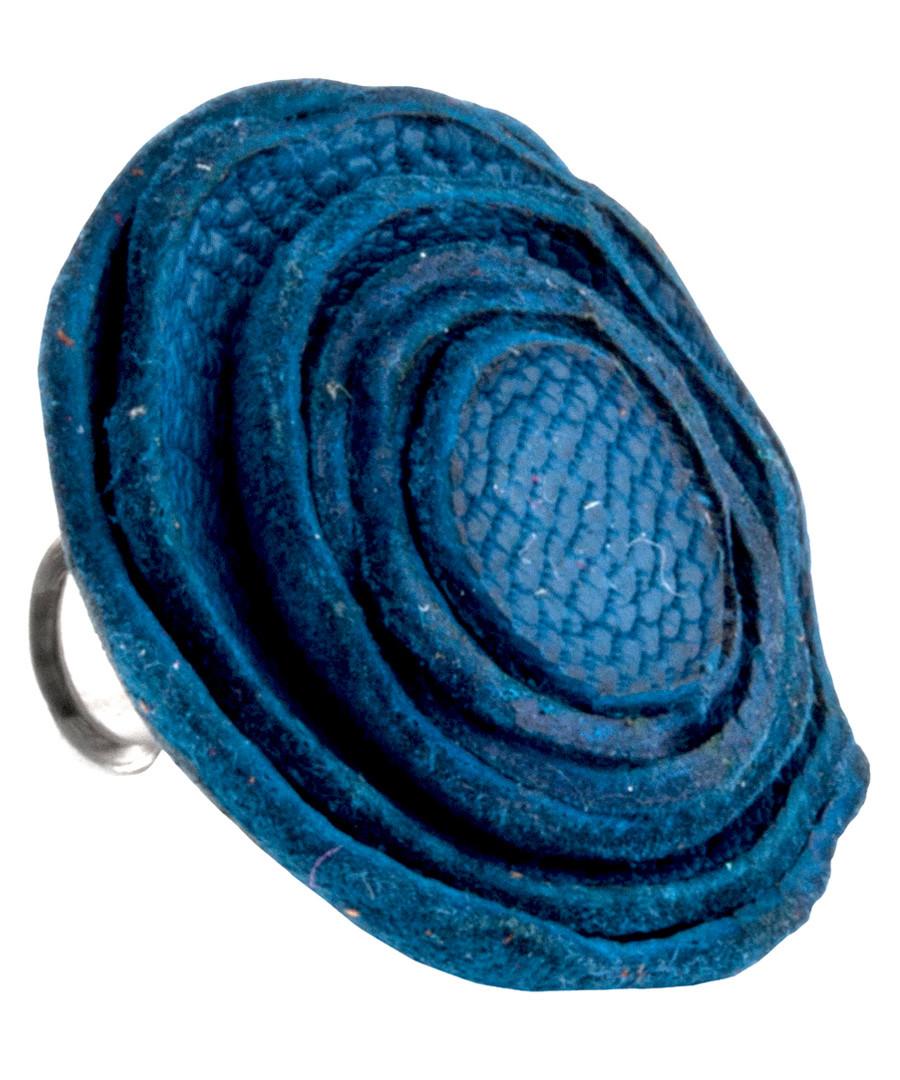 Blue leather rose pin Sale - Tateossian London