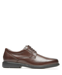 Charlesroad Plaintoe brown leather shoes
