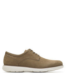 Garett Plain taupe leather Oxfords