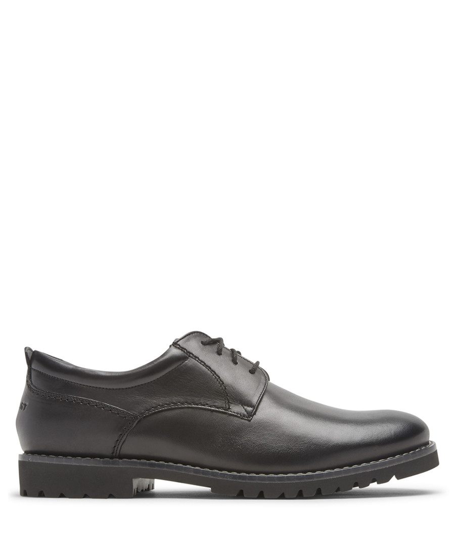 Marshall black leather Oxford shoes Sale - rockport