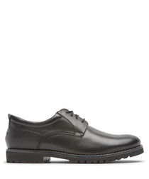 Marshall black leather Oxford shoes