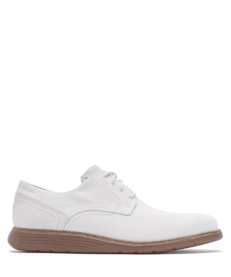 Tmsd PlainToe white boat shoes Sale - rockport