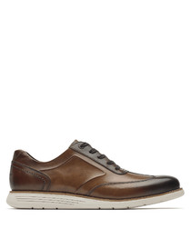 Total Motion brown leather boat shoes