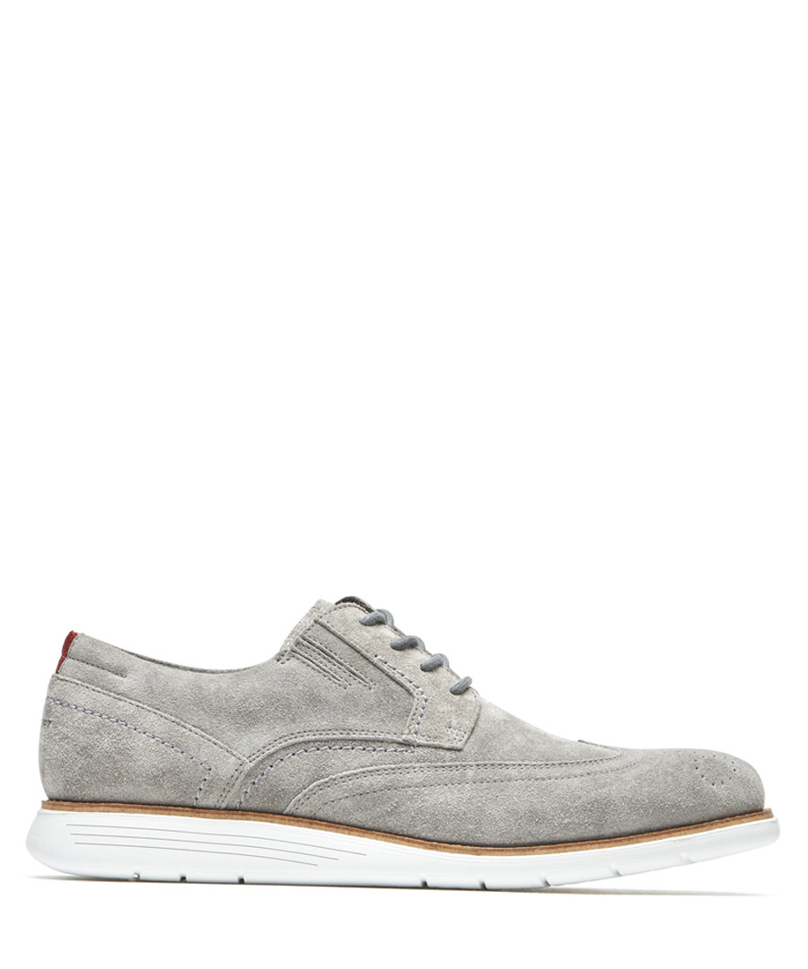 TM Wingtip grey suede brogues Sale - rockport