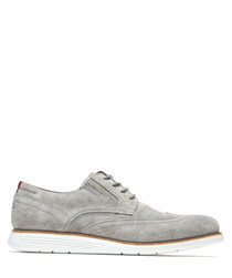 TM Wingtip grey suede brogues