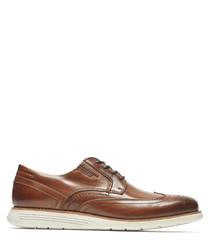 TM Wingtip brown leather brogues