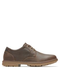 Tough bucks brown leather shoes