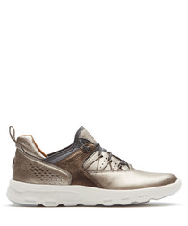 LW bungee metallic leather trainers