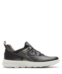 LW Bungee black leather trainers