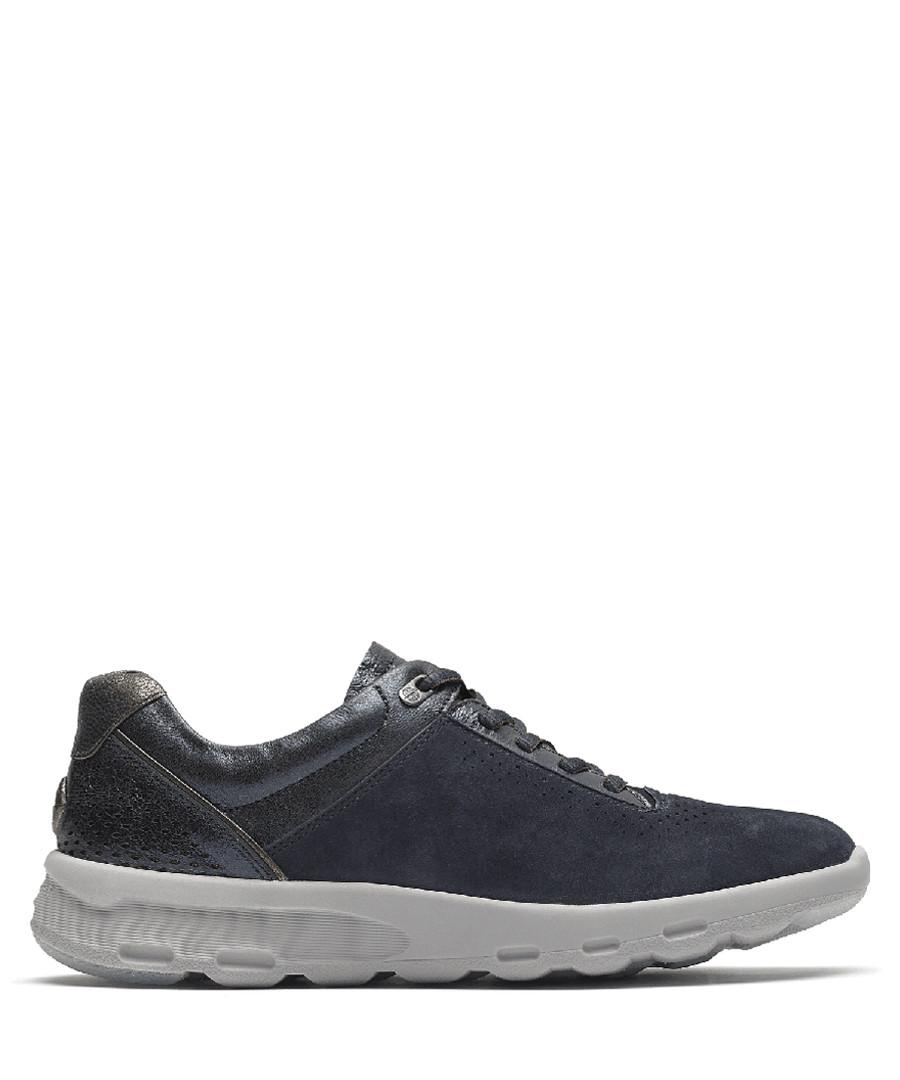 LW Ubal blue leather sneakers Sale - rockport