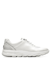 LW ubal pearl white leather sneakers
