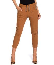 Caramel crop casual trousers