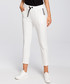 Ecru white crop casual trousers Sale - made of emotion Sale