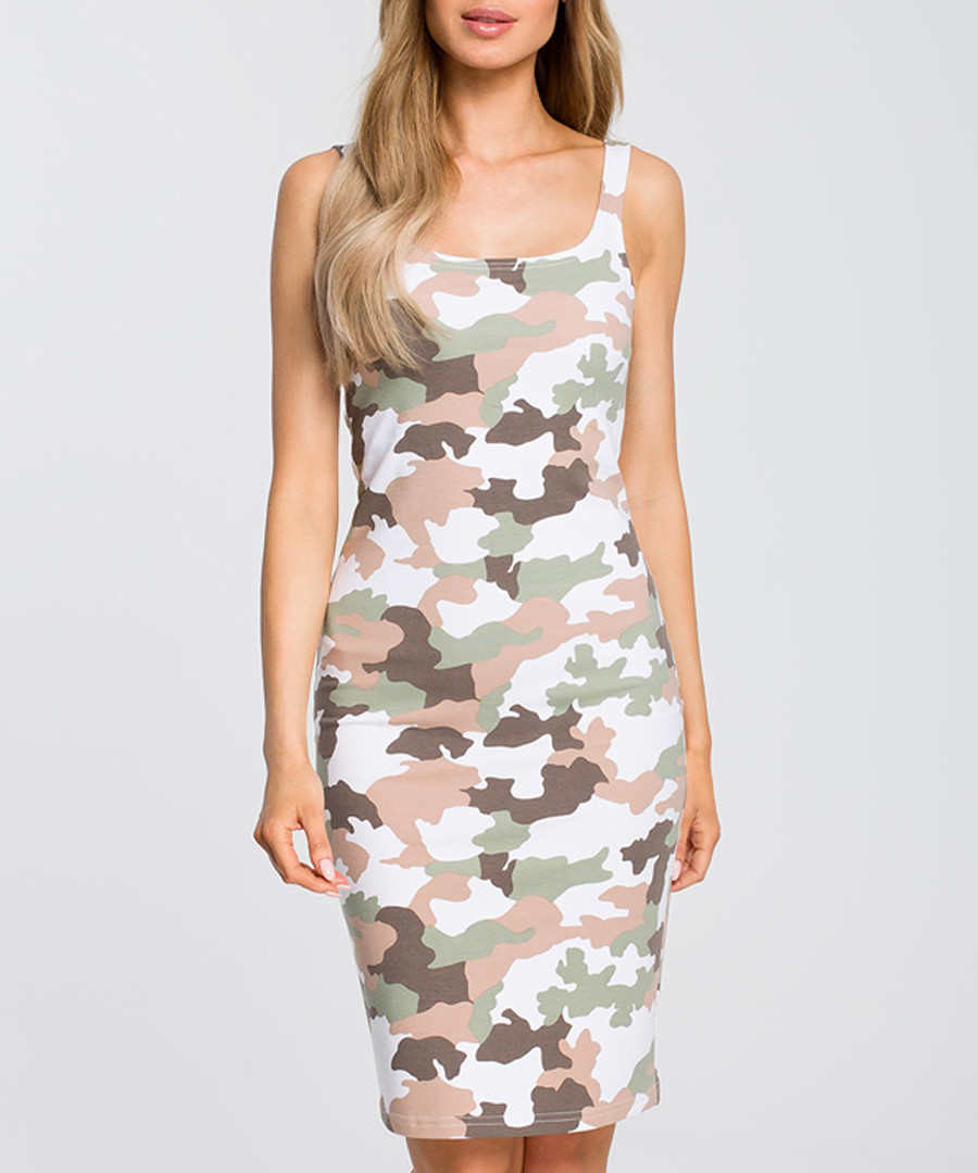 Multi-colour camouflage print dress Sale - made of emotion