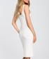 Ecru white figure-hugging dress Sale - made of emotion Sale
