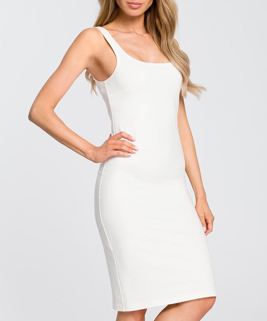 Ecru white figure-hugging dress Sale - made of emotion