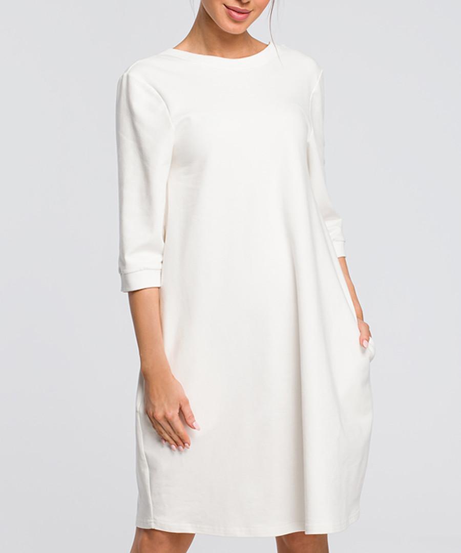 Ecru white oversized dress Sale - made of emotion
