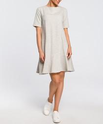 Grey basic A-line dress