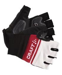 Red white & black logo gloves