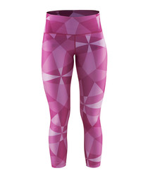Women's Pure purple geometric leggings
