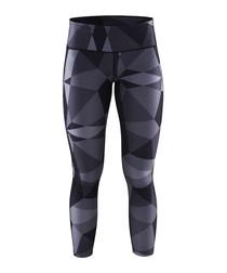 Women's Pure black geometric leggings