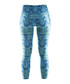 Women's Pure blue abstract leggings Sale - Craft Sale