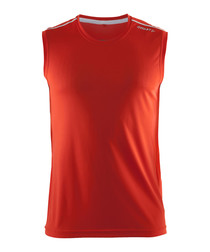 Mind red sleeveless vest top