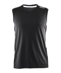 Mind black sleeveless vest top