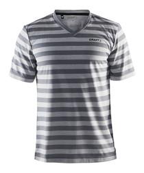 Grey stripe basic T-shirt