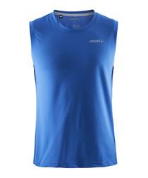 Blue basic vest