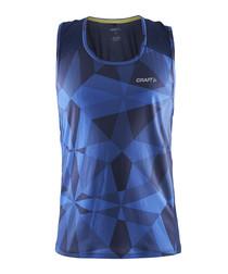 Precise blue geometric racerback vest