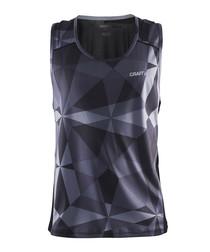 Precise black geometric racerback vest