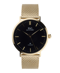 Belgravia gold-plated & black watch