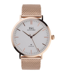 Belgravia rose gold-plated watch
