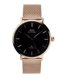 Belgravia rose gold-plated & black watch