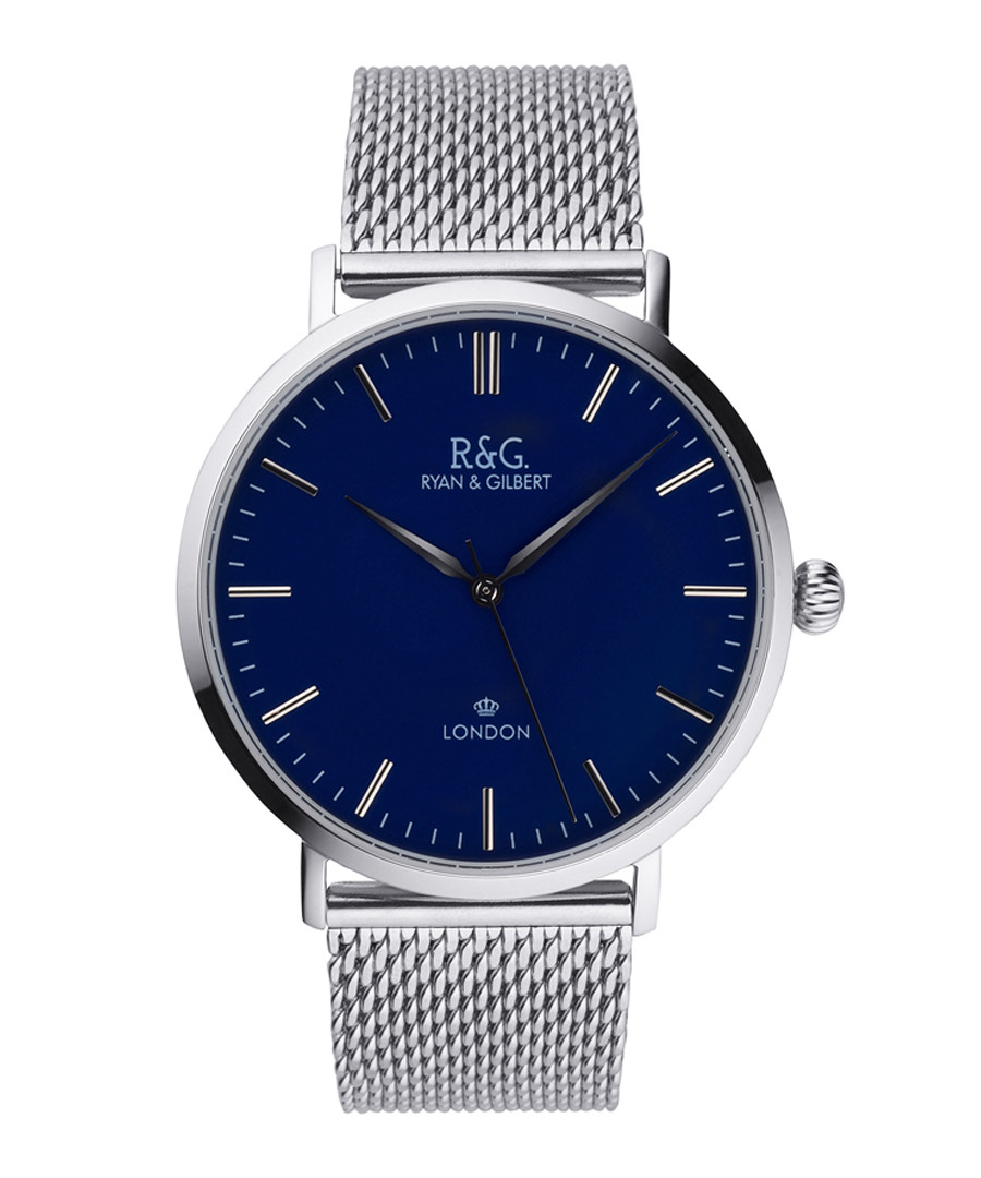 Belgravia silver-plated & navy watch Sale - Ryan & Gilbert