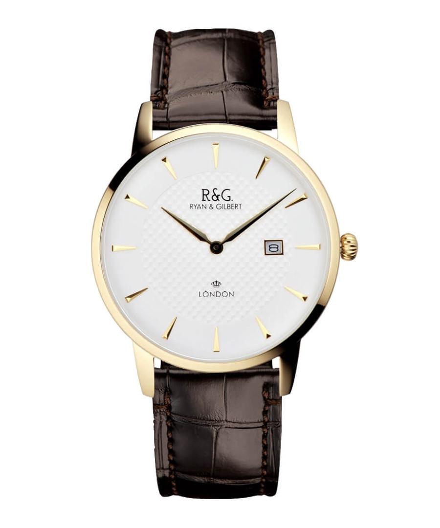Knightsbridge brown leather watch Sale - Ryan & Gilbert